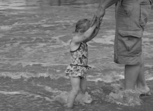 Daddy Daughter Beach